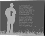 If by Rudyard Kipling - Man Silhouette Gray Fine-Art Print