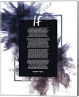 If by Rudyard Kipling - Powder Explosion Blue Fine-Art Print