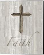 Words for Worship Faith on Wood Fine-Art Print