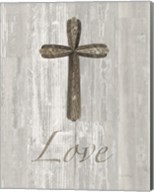 Words for Worship Love on Wood Fine-Art Print