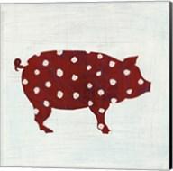 Modern Americana Farm I on White Fine-Art Print