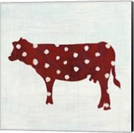 Modern Americana Farm IV on White Fine-Art Print