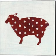 Modern Americana Farm II on White Fine-Art Print
