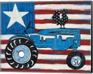 Modern Americana Flag with Tractor Fine-Art Print