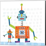 Robot Party III on Square Toys Fine-Art Print
