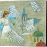 Angel with Music Scroll Fine-Art Print