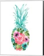 Floral Pineapple I Fine-Art Print