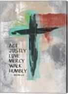Micah 68 Cross Fine-Art Print