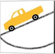 Yellow Truck on Road Fine-Art Print