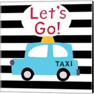 Let's Go - Bright Blue Taxi Fine-Art Print