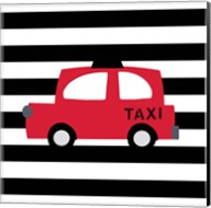 Bright Red Taxi Fine-Art Print
