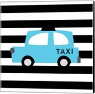Bright Blue Taxi Fine-Art Print