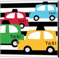 Bright Multi Taxis Fine-Art Print