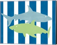 Blue and Green Shark III Fine-Art Print