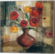 Poppies in a Copper Vase I Fine-Art Print