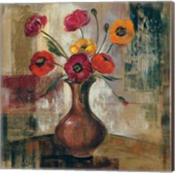 Poppies in a Copper Vase II Fine-Art Print