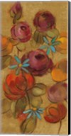 Pressed Flowers II on Gold Fine-Art Print