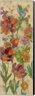 July Garden Trio II on Cream Fine-Art Print