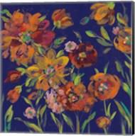 July Garden Trio III Indigo Fine-Art Print