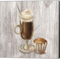 Coffee Time V on Wood Fine-Art Print