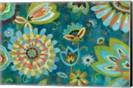 Decorative Peacock Floral Fine-Art Print