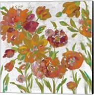 July Garden Trio III on White Fine-Art Print