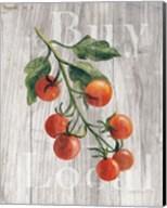 Market Vegetables IV on Wood Fine-Art Print