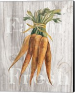 Market Vegetables I on Wood Fine-Art Print