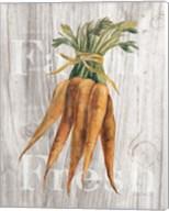 Market Vegetables I on Wood Fine-Art Print