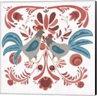 Americana Roosters II Fine-Art Print