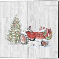 Country Christmas III no Words on White Wood Fine-Art Print