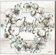 Cotton Boll Family Wreath Fine-Art Print