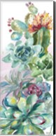 Succulent Garden Panel I Fine-Art Print