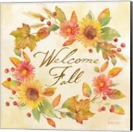 Welcome Fall Square II -Be Grateful Fine-Art Print