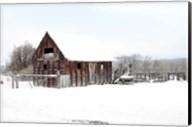 Winter Barn Landscape Fine-Art Print