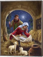 Holy Family with sheep Fine-Art Print