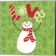 Winter Wonderland Snowmen I Fine-Art Print
