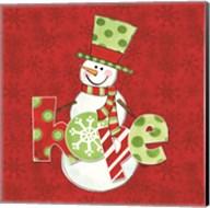 Winter Wonderland Snowmen IV Fine-Art Print