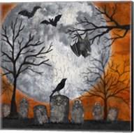 Something Wicked Graveyard I Hanging Bat Fine-Art Print