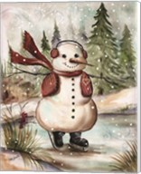 Country Snowman III Fine-Art Print