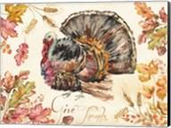 Watercolor Harvest Turkey Fine-Art Print