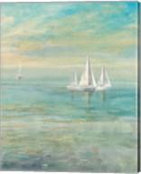 Sunrise Sailboats II Fine-Art Print