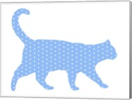 Dot Pattern Cat - Blue Fine-Art Print