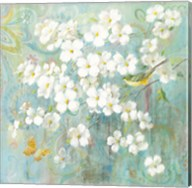 Spring Dream I Butterfly and Bird Fine-Art Print