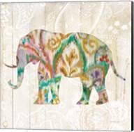 Boho Paisley Elephant II v2 Fine-Art Print