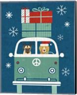 Holiday on Wheels XII Navy Fine-Art Print