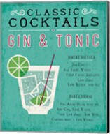 Classic Cocktail Gin and Tonic Fine-Art Print