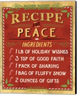 Holiday Recipe II Gold and Red Fine-Art Print