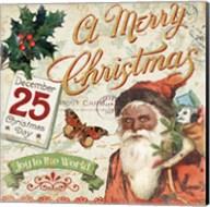 Vintage Christmas II Santa Fine-Art Print