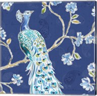 Peacock Allegory III Blue Fine-Art Print